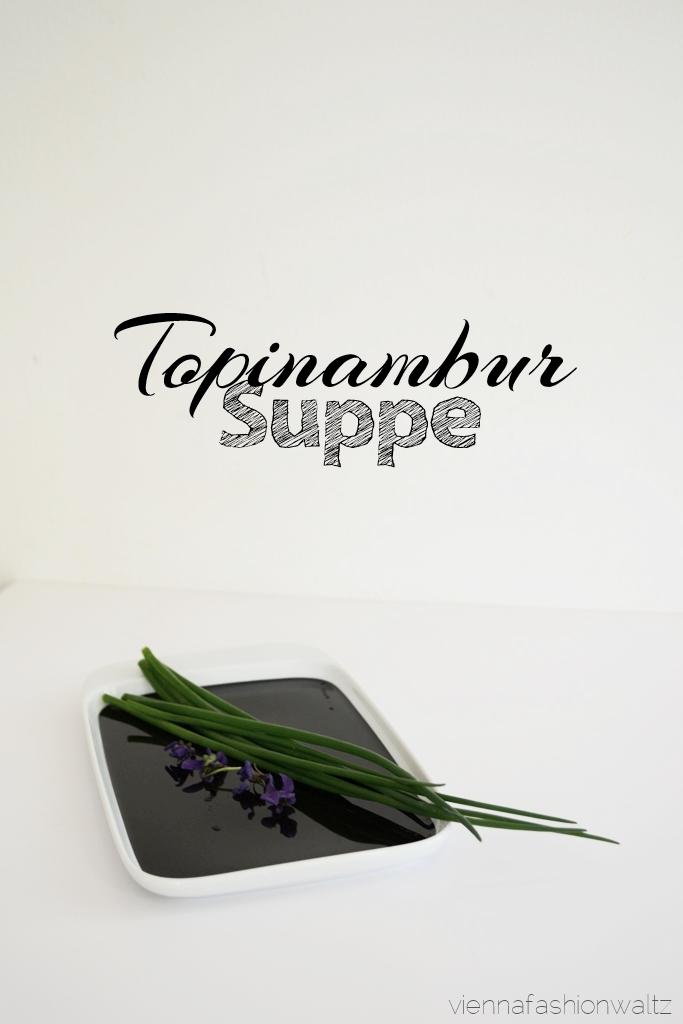 Rezept Topinambursuppe mit Croutons und Mandeln Dekoration Schnittlauch VeilchenBeauty Lifestyle Blog Wien Vienna Fashion Waltz (2)