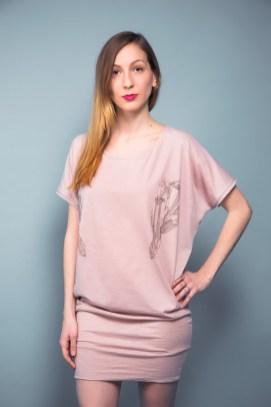 T-Shirt-Kleid aus Baumwoll-Jersey