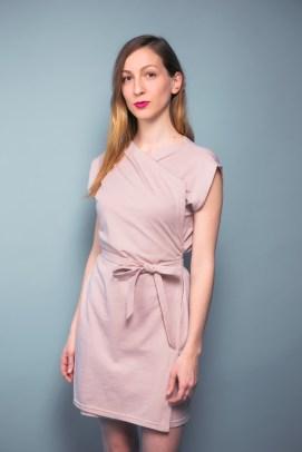Wickelkleid aus leichtem Flame-Jersey aus zertifizierter Baumwolle