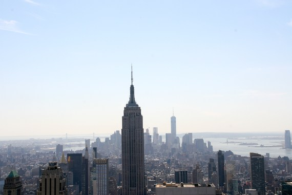 NYC Top of the Rock Empire State Building