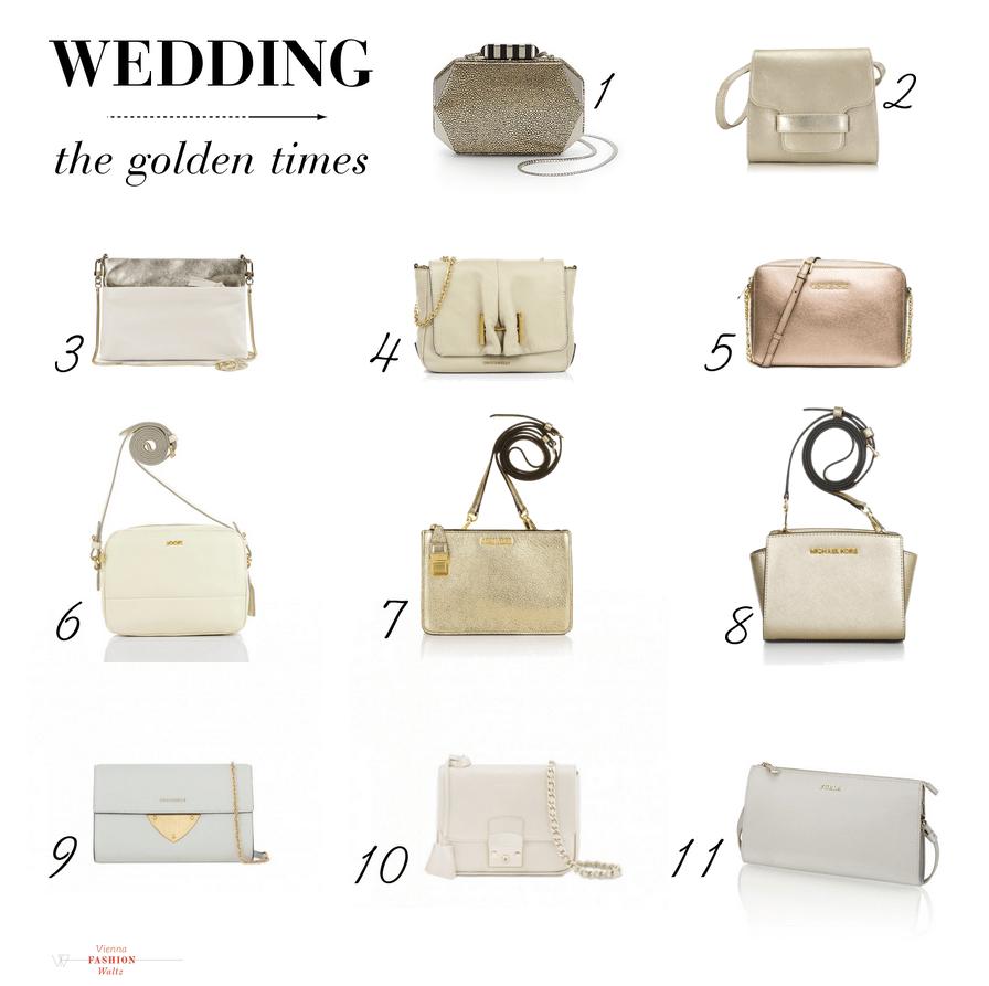 Hochzeitstagebuch: 11 Taschen für goldene Zeiten   wedding bag tasche hochzeit coccinelle rebecca minkoff unisa lifestyle blog viennafashionwaltz