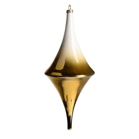 DEPOT_Baumschmuck Farbverlauf Glas gold ca L 26 cm_EUR 9,99