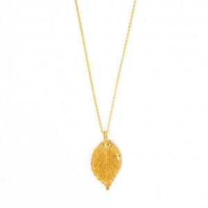 Kette gold mit Blatt, Freystil