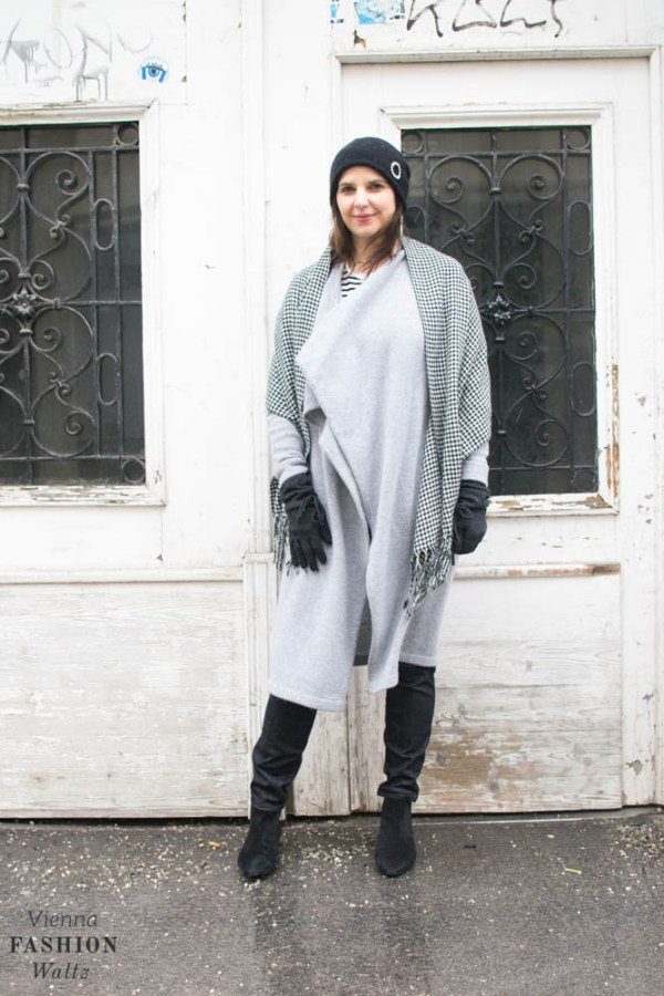 Grey Cashmere Cardigan Outfit