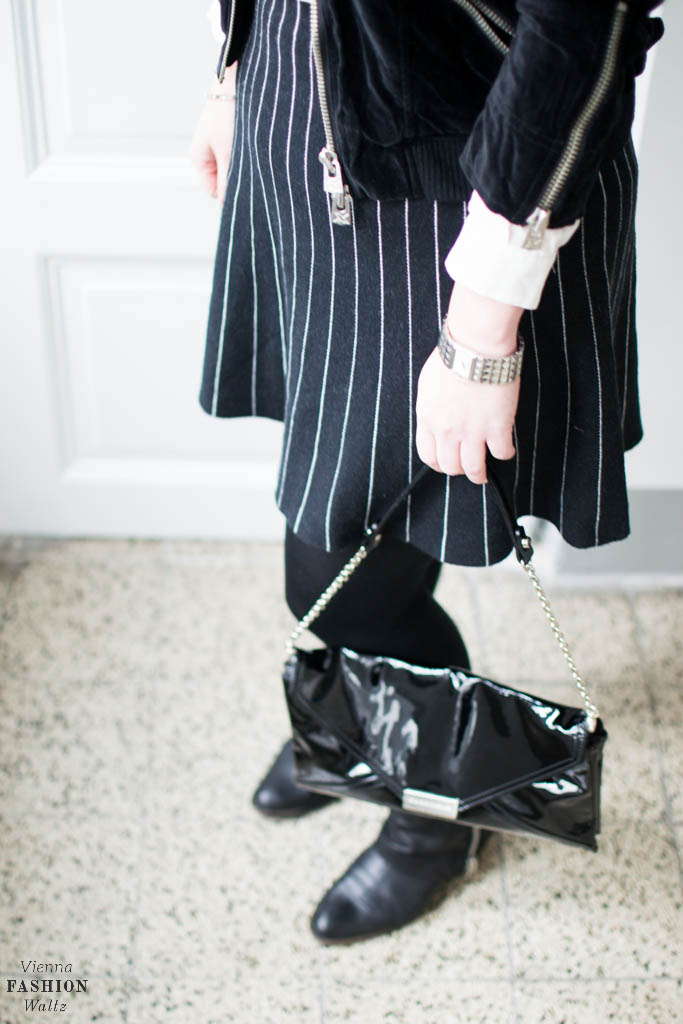 Weiße Bluse, Fashion, Streetstyle, Blogger Style, Patent leather, Coccinelle bag