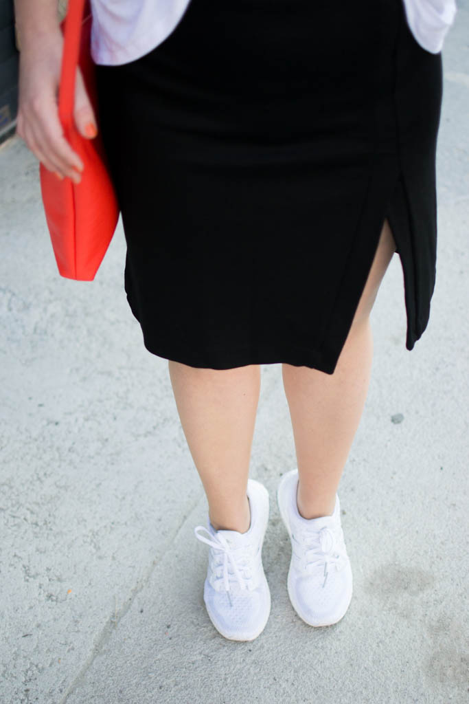 Fashion-Lifestyle-Blog-Wien-Austria-Österreich-www.viennafashionwaltz.com, Color Pop, Orange Furla Bag, Adidas Ultra Boost Triple White