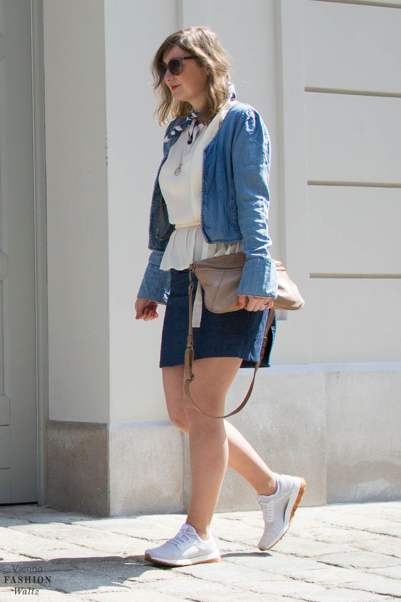 Denim Fashion Trends, Denim on Denim, Denim All Over, Jeans Jacket, Denim Skirt, Adidas Pure Boost