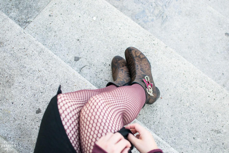 Fashion Trends 2017: Velvet Brokat Sheer Look Patches   Vienna Streetstyle