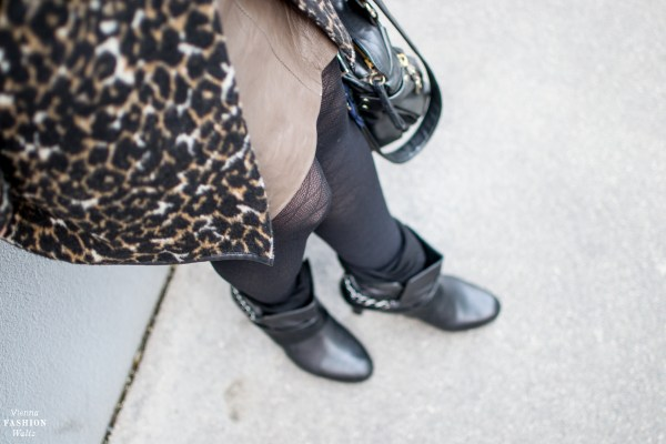 Fashion Trends | How to wear Leopard Print! Outfit with leopard print Coat and Leather Skirt