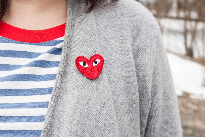 Streifenlook im COS Shirt mit Kaschmir Cardigan, Streetstyle, Fashion Trends, Outfit Inspiration | www.viennafashionwaltz.com