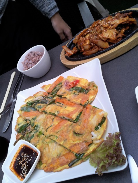 The Korean vegetable omelette