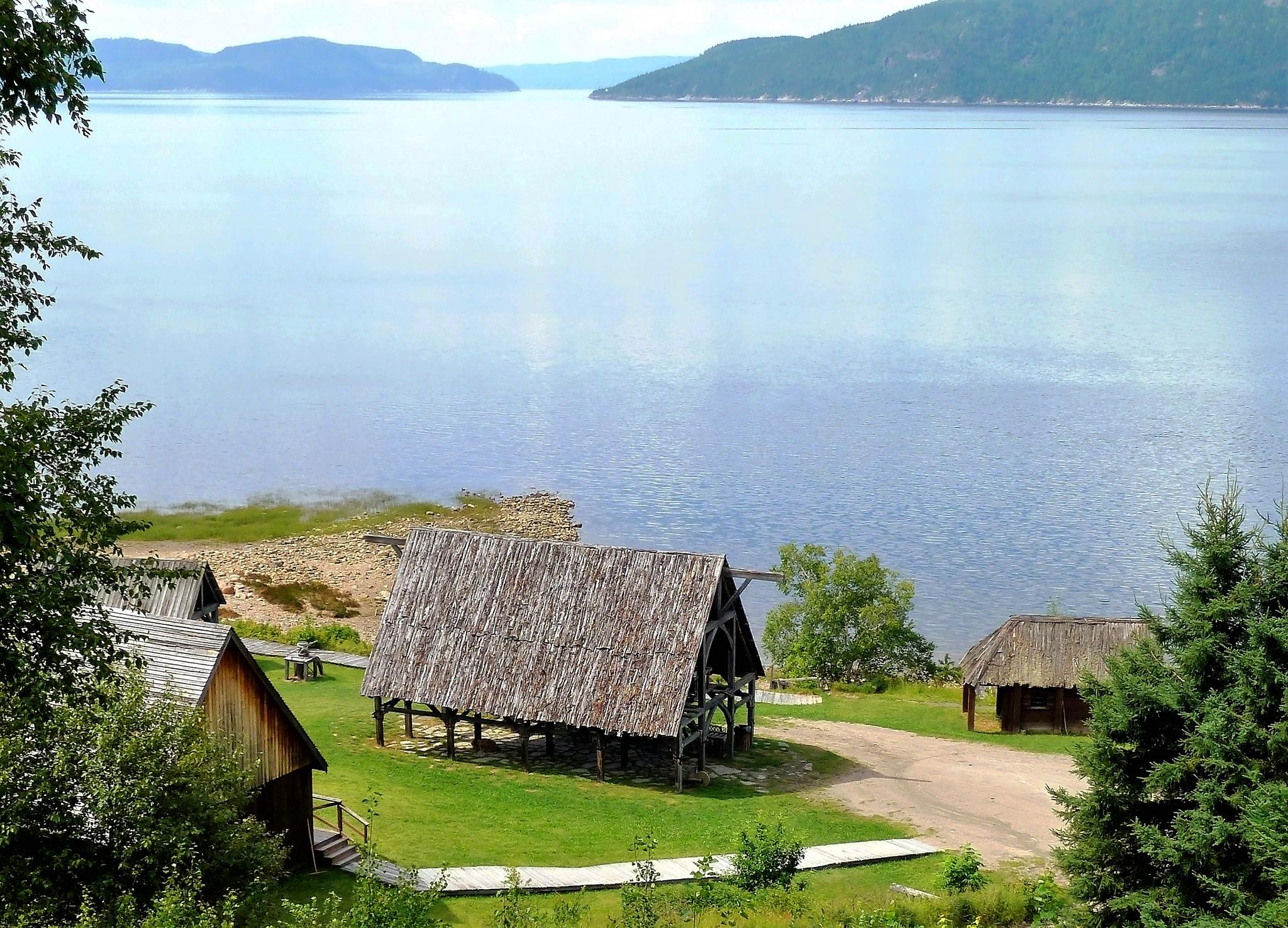 Paysage sur le fjord de Saquenay