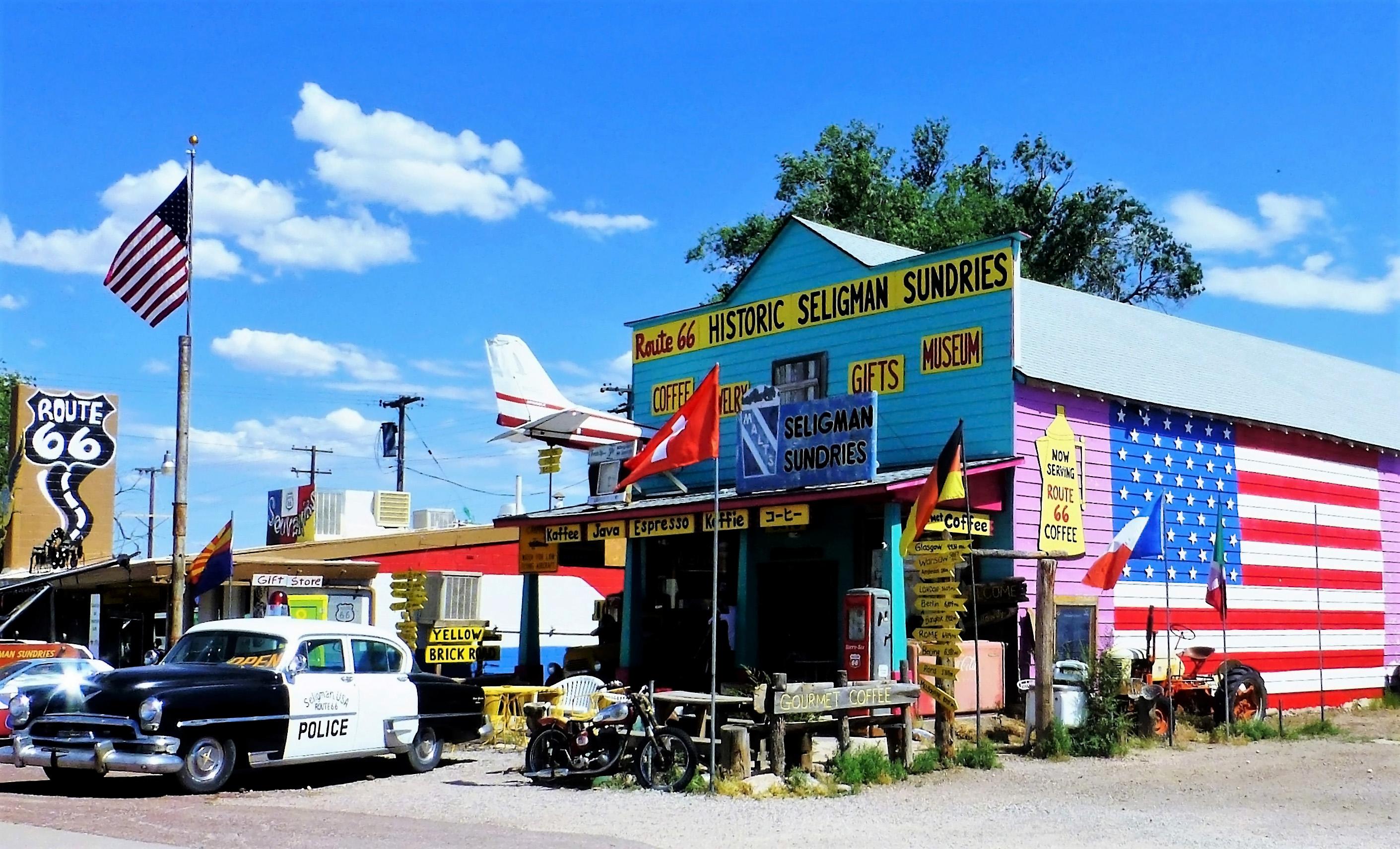 Village typique de la route 66, aux USA