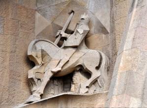 Sculpture extérieure Sagrada Familia Barcelone