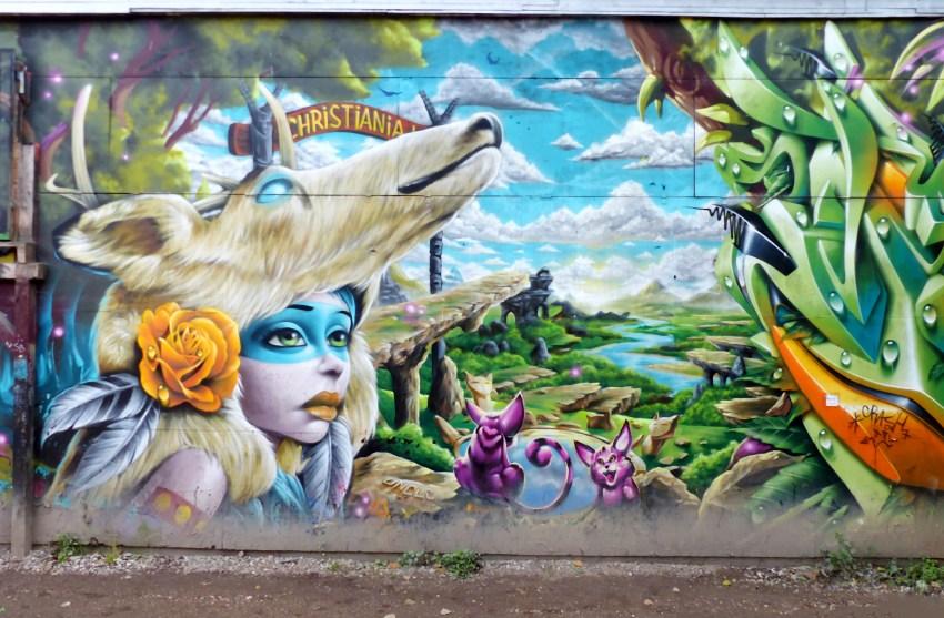 Chrisitiana copenhague peinture murale