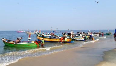 Marari Beach retour des pêcheurs