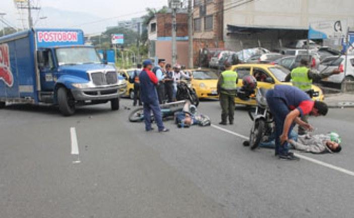 Cada día se registran 19 accidentes de motos en Bogotá