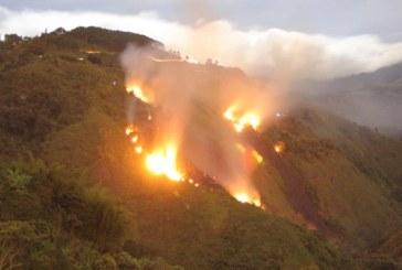 Incendios forestales de Cundinamarca afectan calidad del aire en Bogotá