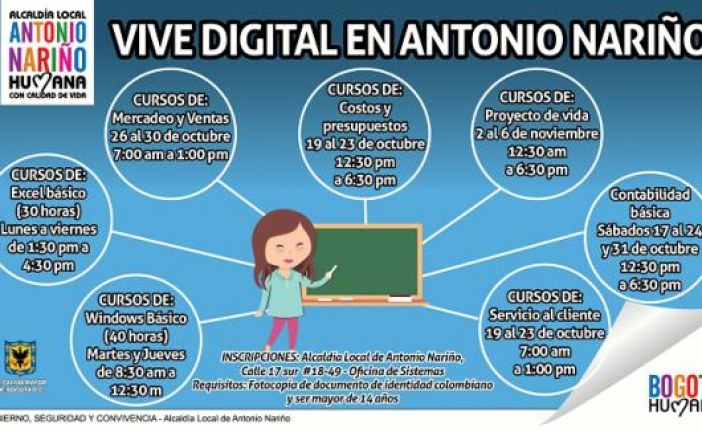 En octubre, 'Vive Digital en Antonio Nariño'