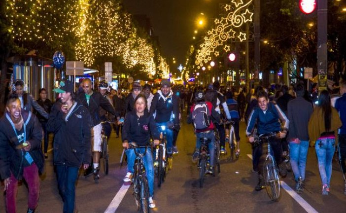 Hoy jueves 10 de diciembre habrá ciclovía nocturna