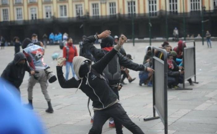 Se presentaron disturbios durante la celebración del Día del Trabajo
