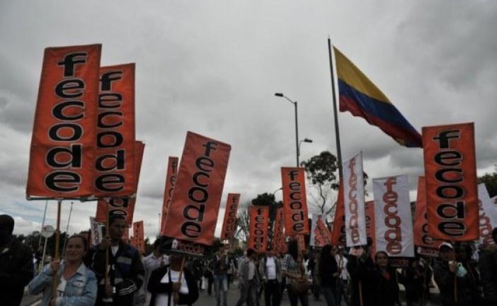 Marchas de maestros paralizan movilidad en el occidente de Bogotá