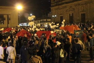 Campamentos de paz en la Plaza de Bolivar