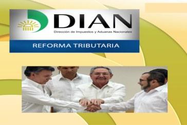 El proceso de paz y la reforma tributaria