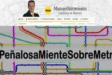 """""""Peñalosa nos condena a los buses y miente sobre metro elevado"""": concejal Manuel Sarmiento"""