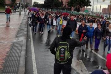 Marcha de apoyo a maestros en Ciudad Bolivar