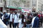 Marcha de mestros y trabajadores estatales