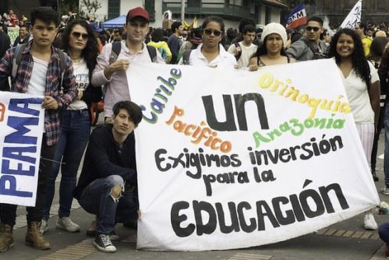 Así fue la marcha estudiantil por mayor presupuesto para la educación publica superior en Colombia
