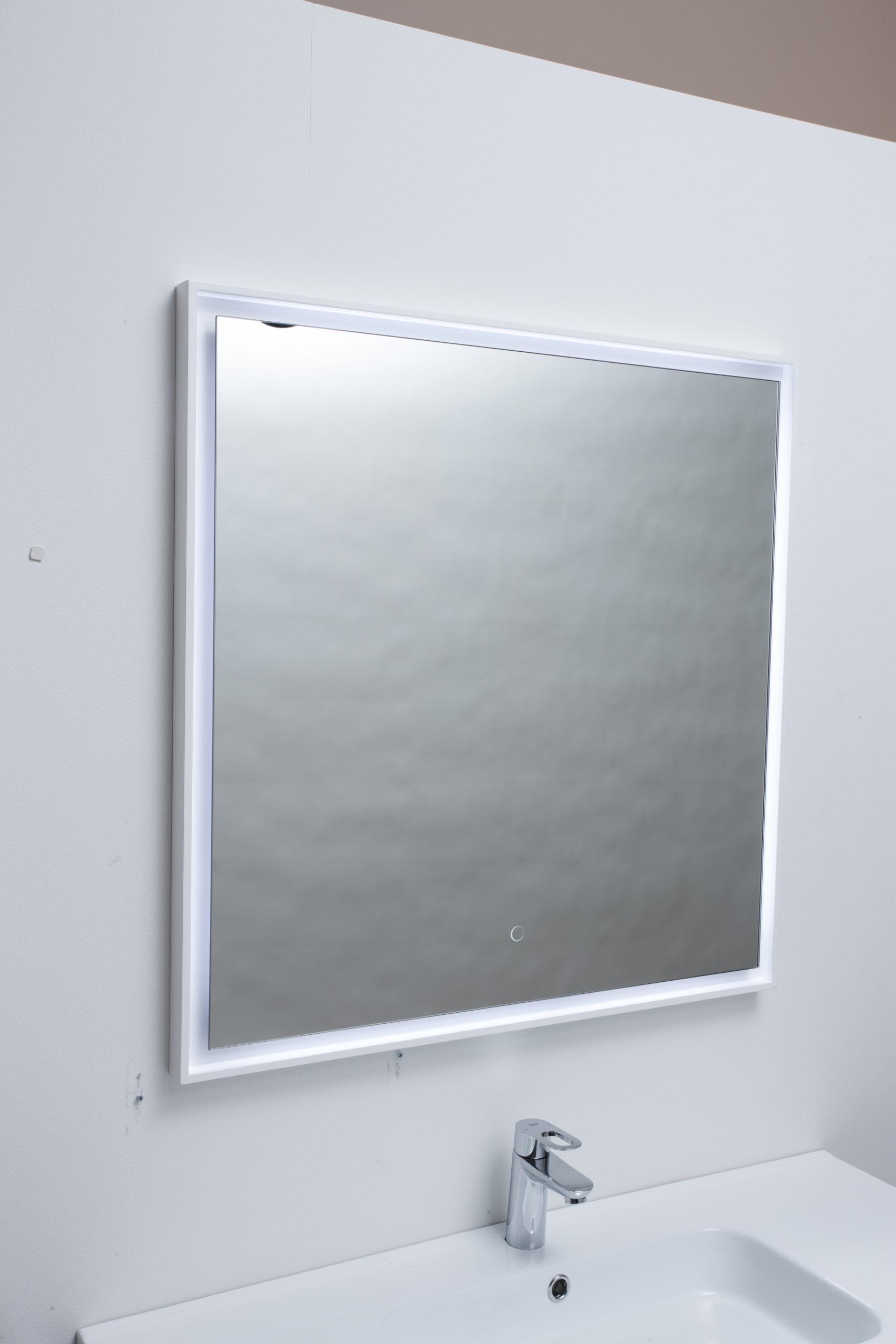 Spar Nu 50 Pa Fano Spejl I Hvid Ramme Firkantet Fano Spejl I Ramme