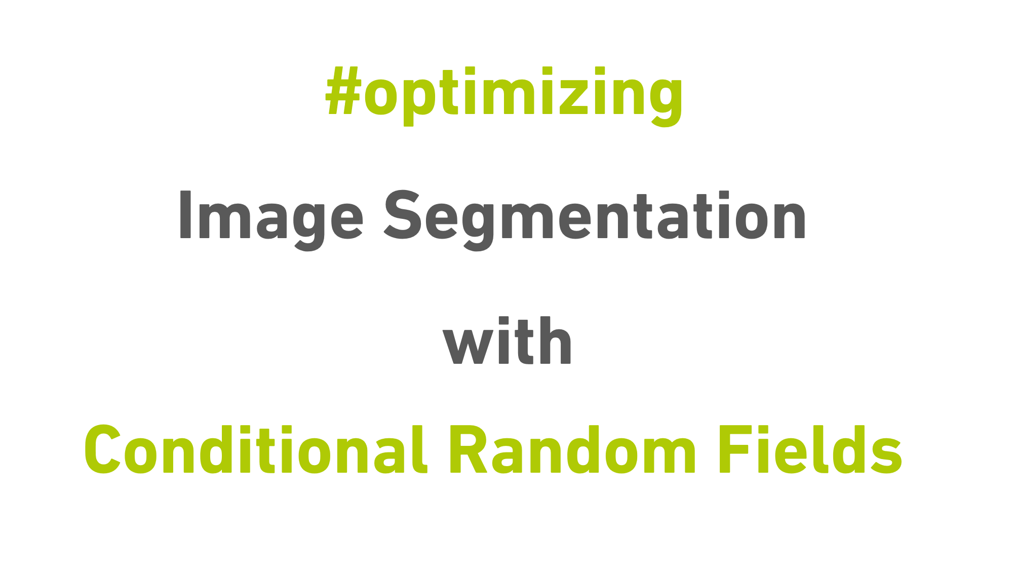 Improving Performance of Image Segmentation with Conditional Random Fields (CRF)