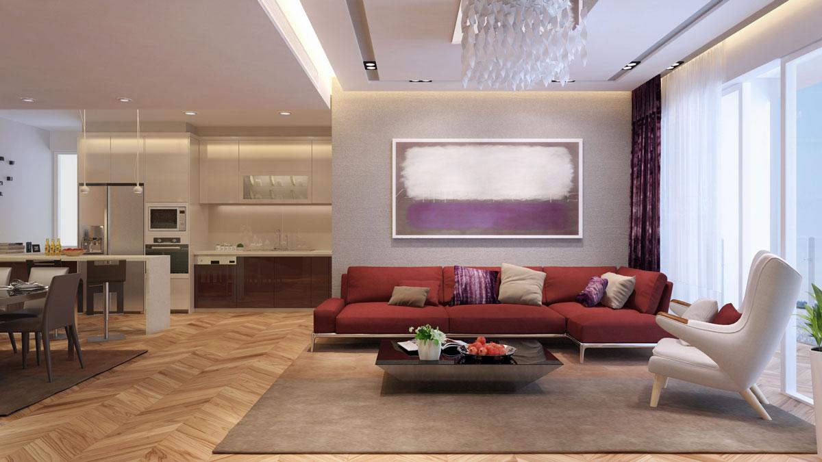 thiết kế nội thất chung cư Athena