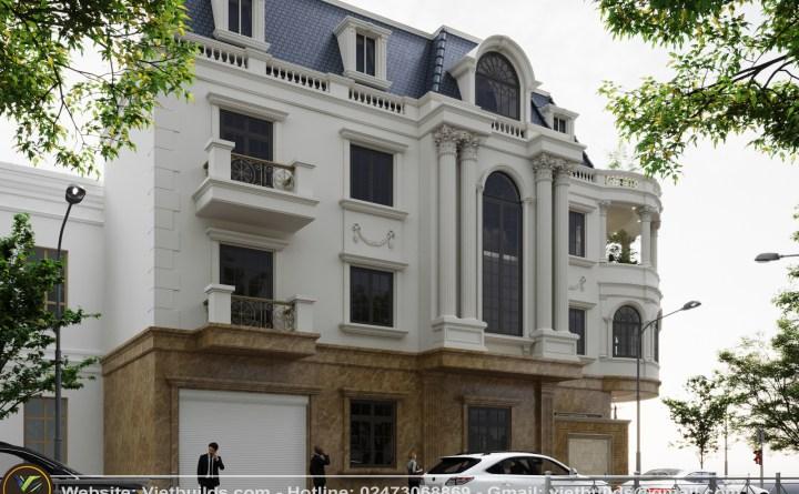 Thiết kế mẫu nhà lô góc 3 tầng KIỂU tân cổ điển (CĐT: Anh Sử - Nam Định)