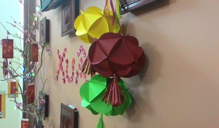 Trang trí nhà ngày tết bằng đồ handmade