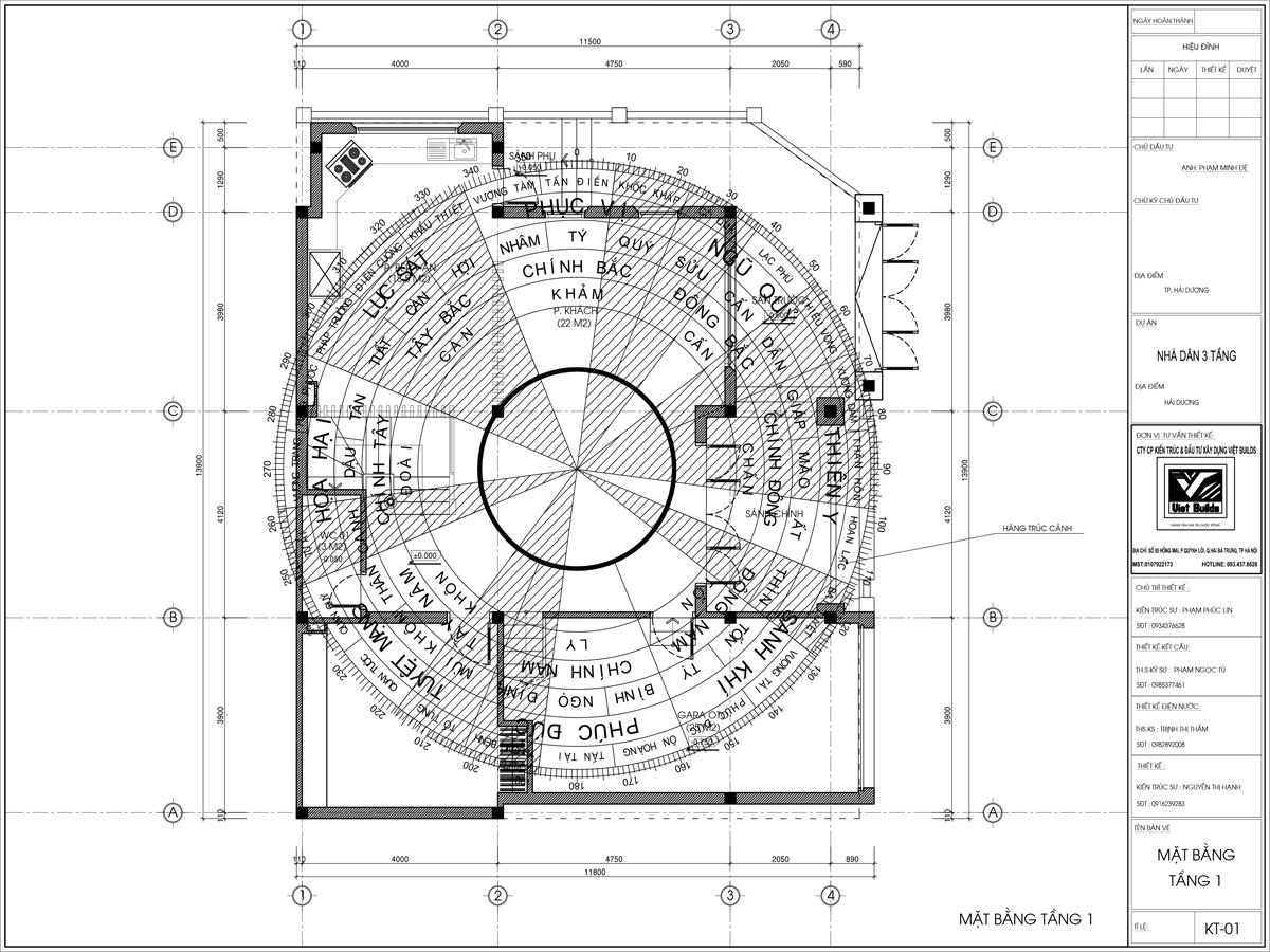 mẫu biệt thự 3 tầng tân cổ điển BT16046
