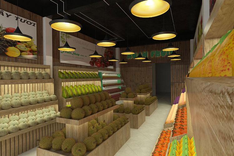 Thiết kế nội thất shop trái cây