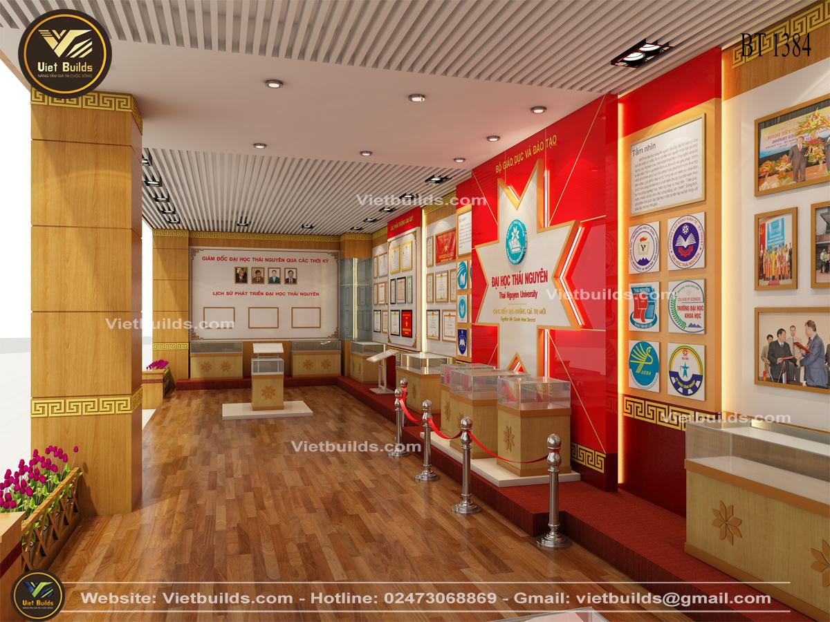 Mẫu phòng truyền thống đẹp của trường đại học Thái Nguyên NT1384