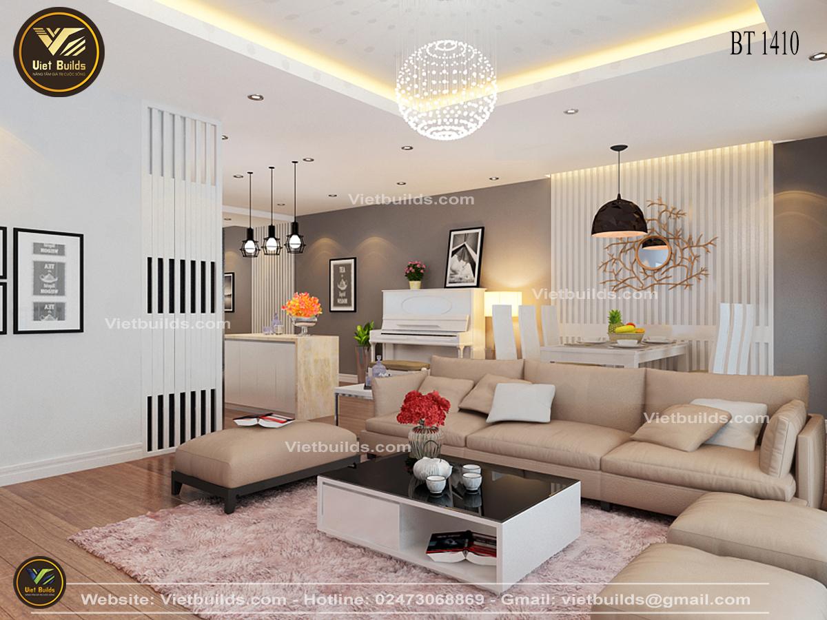 Mẫu thiết kế nội thất Chung Cư đẹp ở Hà Nội NT1410