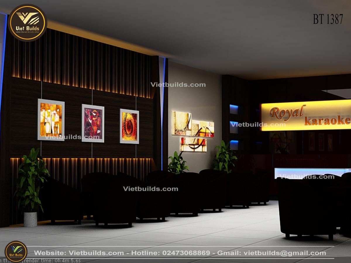Mẫu tư vấn thiết kế quán Cafe đẹp sang trọng NT1387