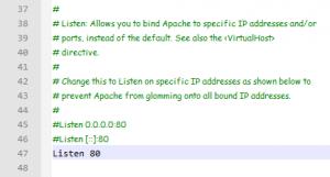 Apache-Listen-Port-80