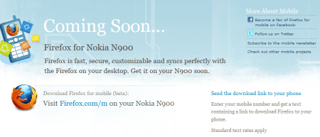 FireFox for Nokia N900
