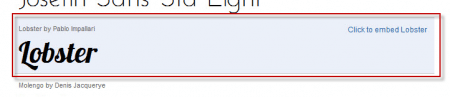 Google Fonts API - Chọn nhúng một phông chữ khác