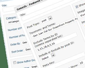 Genesis Featured Posts Widgets