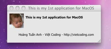 Ứng dụng đầu tiên trên Mac OS