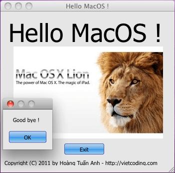 Hello MacOS !