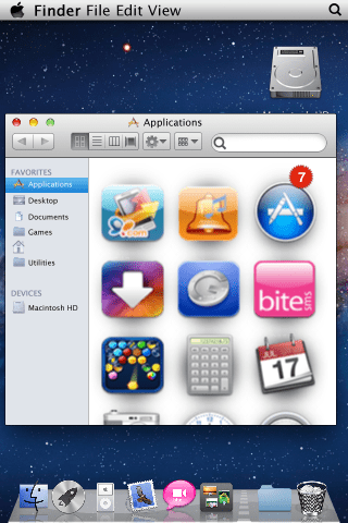 Finder của Mac Lion