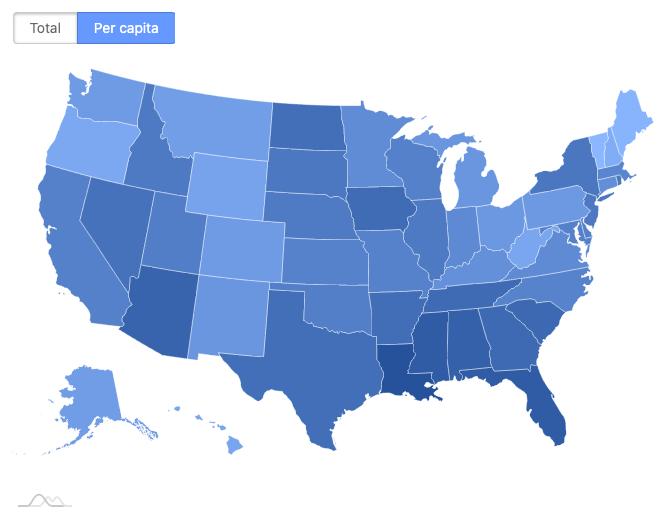 COVID-19 US map